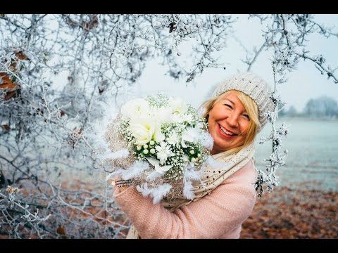 Blumenstrauß binden: Winterwonderland - YouTube