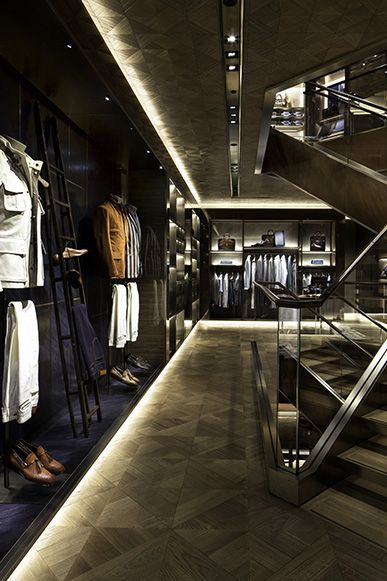 ♂ Commercial retail store interior design Berluti Maison, London Berluti flagship store with three floors London home forits menswear, accessories and shoes collections.