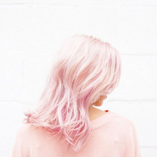 Add a pop of pastel to your tresses.