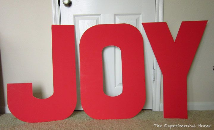 Giant christmasy wall letters the experimental home for Large letter j for wall