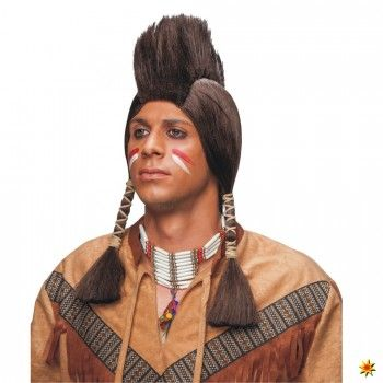 Indianer Perücke mit Iro | Fasching Kostüme kaufen
