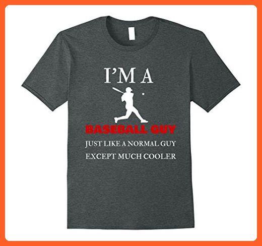 Mens Baseball Guy  Just Like Normal Except Cooler Funny Shirt Medium Dark Heather - Funny shirts (*Partner-Link)