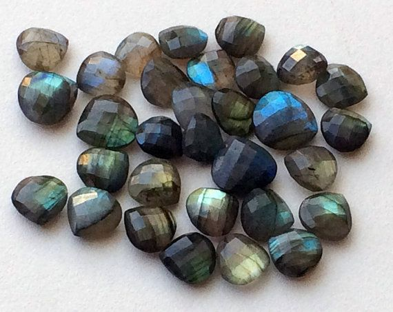 WHOLESALE 10 Pcs Labradorite Rose Cut Heart by gemsforjewels