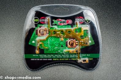 Team #Xecuter #XFire10, Xbox 360 game pad mod (#xb360gamepad #TeamXecuter)), menu system and profile selection. A must have mod for serious gamers: 10 special zones, 65+ mod options! Package includes PCB, cables and screw driver.