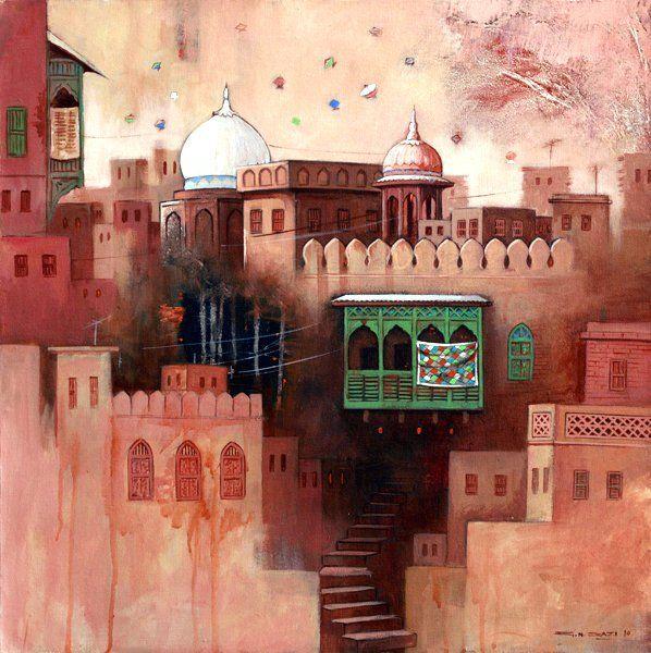 indigenousdialogues: Pakistani artist, G.N. Qazi