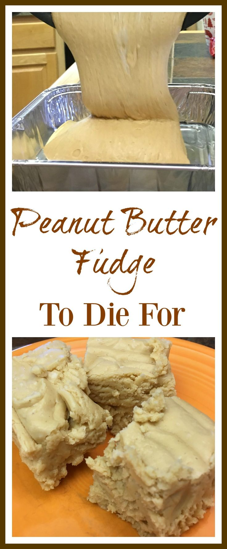Peanut butter fudge is so simple to make. There's only one difference between peanut butter and regular chocolate fudge...the chips.