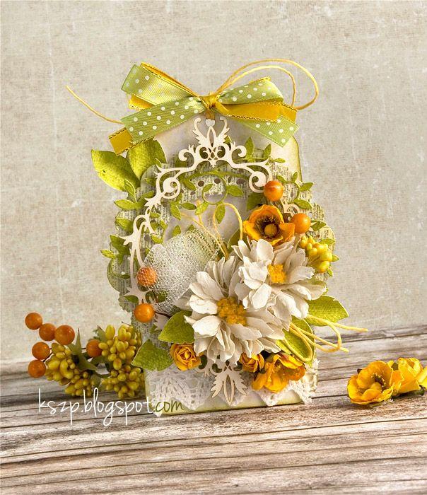 открытка с желтыми цветами своими руками просто