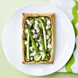 Courgette and Asparagus Tarts