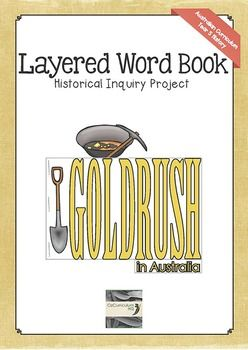 Add a new and fun dimension to your study of the Australian gold rushes. This layered word book spells the word GOLDRUSH and each page contains questions for students to investigate and answer. A note-taking table is included to support students as they investigate the answers to the questions.The book is perfect to use as students study the topic of gold rush in Australia or as and end of unit activity.