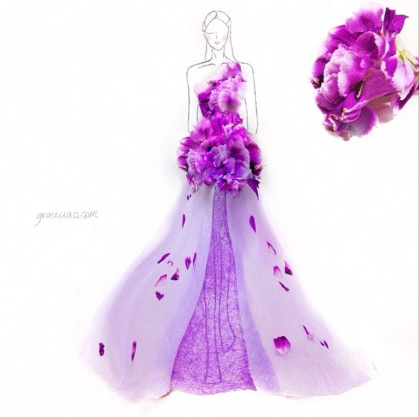 Stunning Floral Fashion Illustrations by Grace Ciao