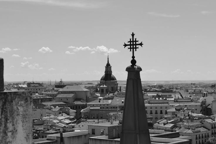 Beautiful view of Madrid, taken from the top of a church