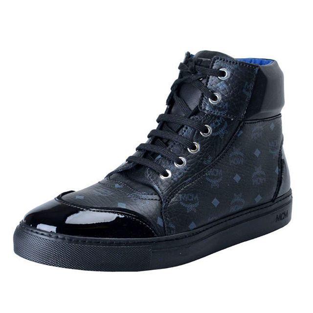 MCM Black Classic Visetos Men's Hi Top Fashion Sneakers Shoes #MCM #black #classic #Men's #fashion #Sneakers #Shoes #style #MODA #design #Italy #France #Spain #обувь #сникерсы #l4l #likes #norway #finland #Onemoda