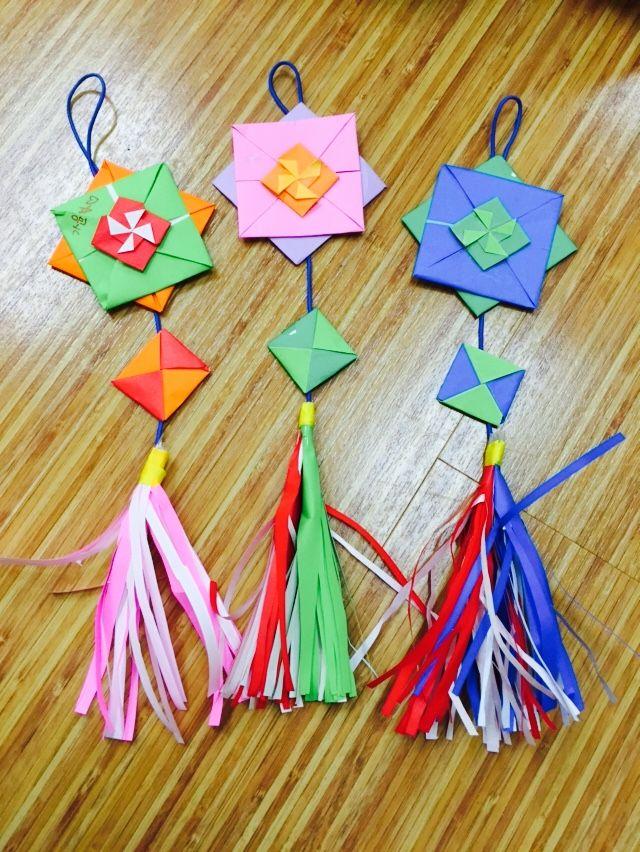 +우리나라 프로젝트 수업 : 색종이로 노리개 만들기 9월은 우리나라 주제로 수업하는 달 #우리나라 프로젝...