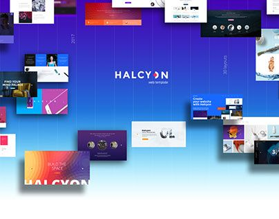 "Check out new work on my @Behance portfolio: ""Halcyon - Modern Website Template 