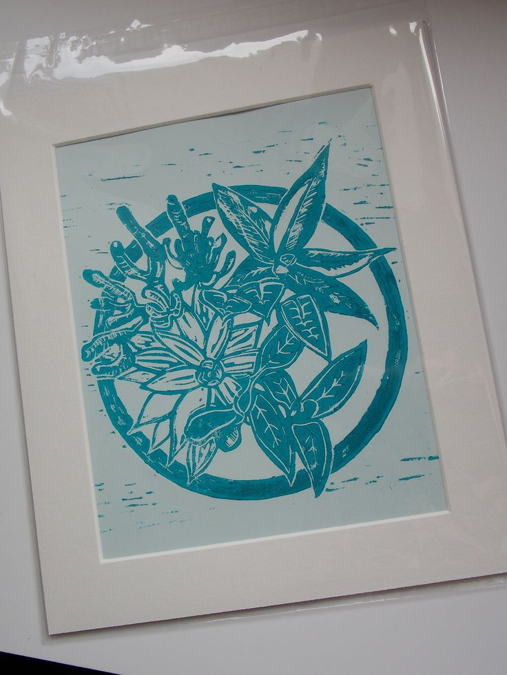 Succulent Lino Print by NewGrowthDesign on Etsy