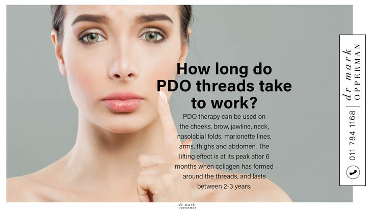 How long do PDO threads take to work? Book your ...