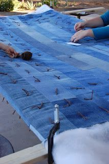 Babblings and More: Jean Quilt Tutorial and how to make a quilting frame