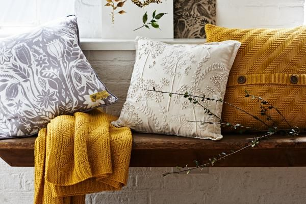 Mustard yellows bring extra warmth to the home for autumn.