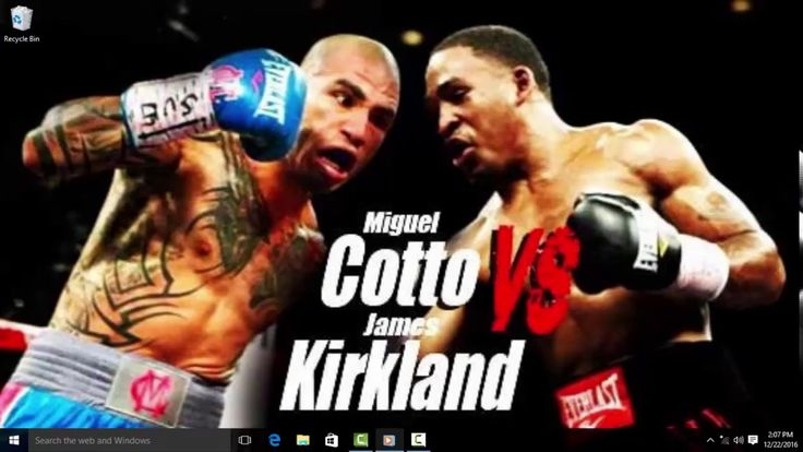 MIGUEL **COTTO VS JAMES **KIRKLAND