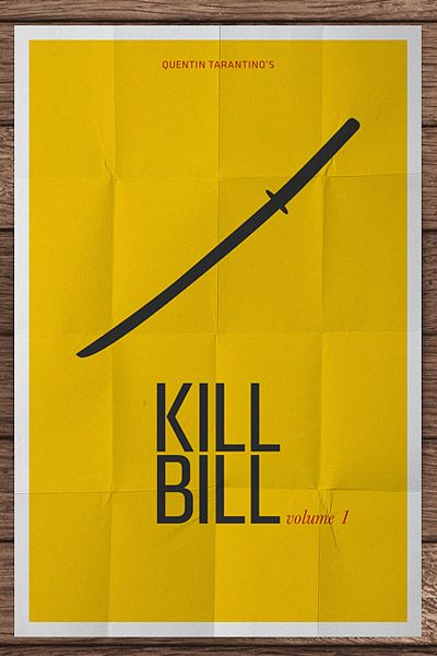 This is my Favorite movie - Kill Bill. Minimalist Movie Poster.