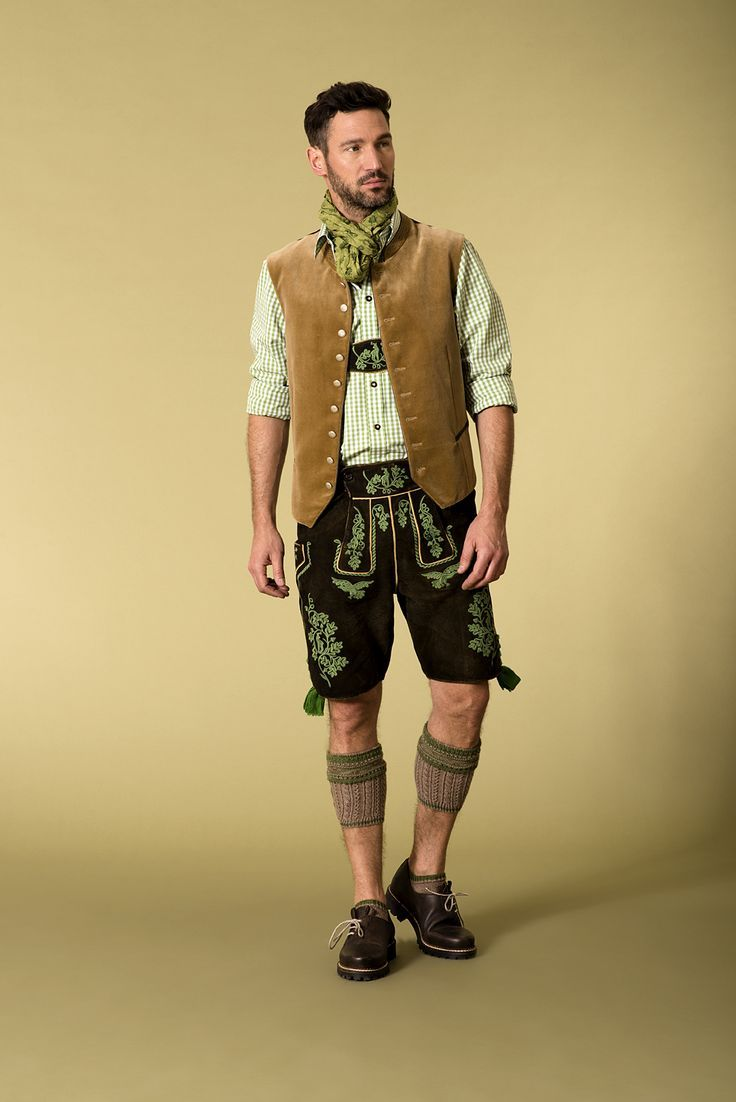 FREE bavarian shirt! Authentic lederhosen for men. Long kniebund lederhosen and…