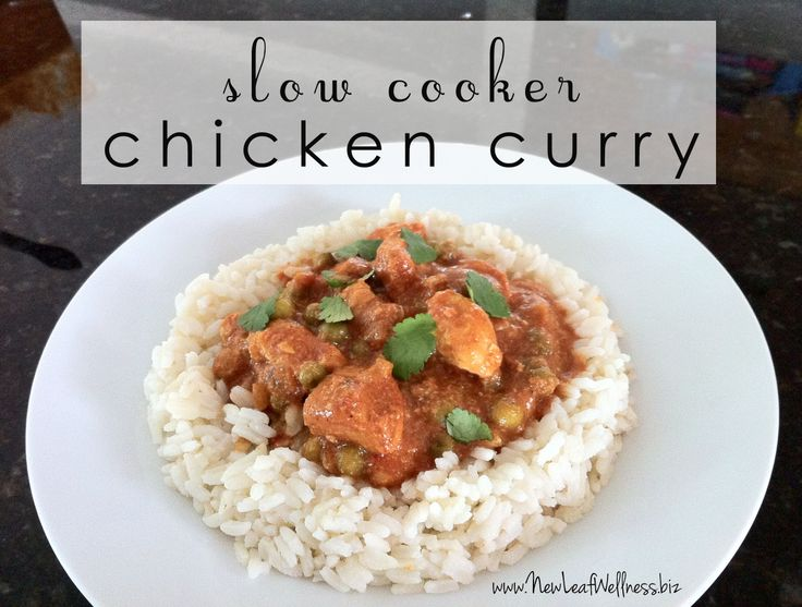 Slow cooker chicken curry. Made this in the crockpot and my husband ...