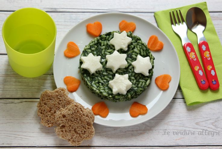 Risotto agli spinaci e mozzarella