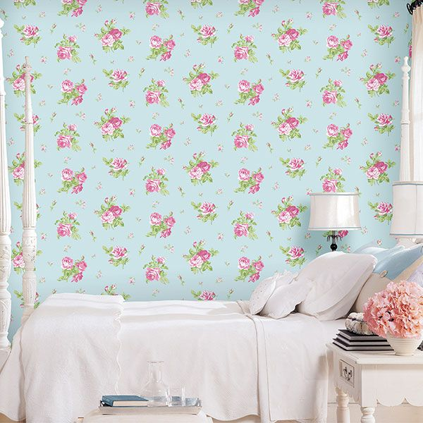 English Florals Collection by Galerie - G34314R #galerie #homedecor #wallpaper #wallcovering #floral #interior