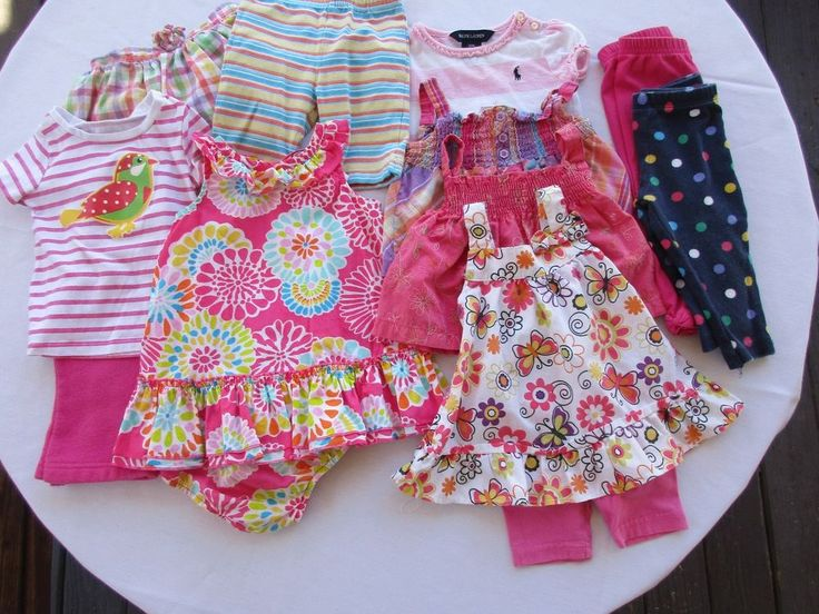 Lot of Infant baby girl clothes sz 12 months summer shirts shorts gymboree polo #Gymboree #spareclothesdaycaredonatereselloutdoorsvacationplayclothesDressyEverydaywholesale