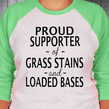 Proud Supporter 3/4 Sleeve Raglan Tee #BB453 *Choose Your Text and Colors