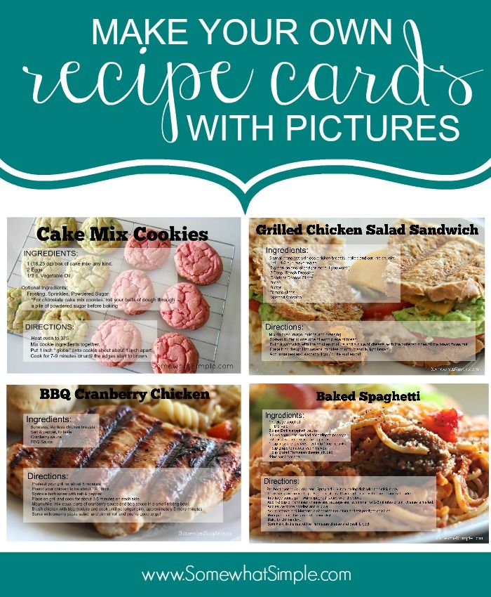 How to make your own recipe cards with pictures - such a genius idea!