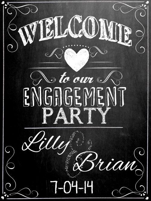 Personalized WELCOME to our Engagement Party by CustomPrintablesNY, $10.00