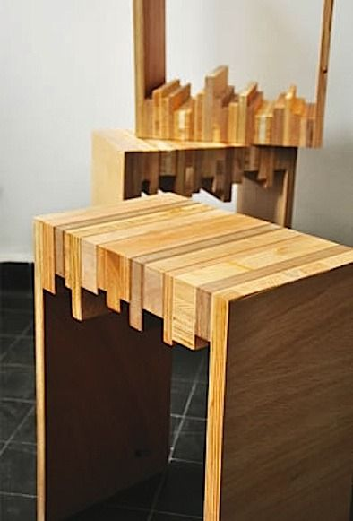 Credit: Improvised Life [http://www.improvisedlife.com/2011/05/17/stylish-stools-made-of-random-wood-scraps/]