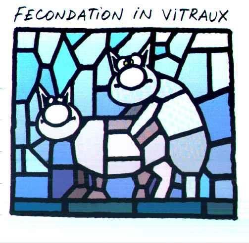 Fécondation in vitraux (Philippe Geluck)