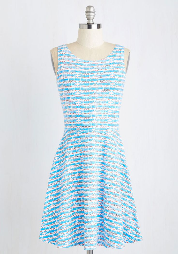 The Gator Good Dress. Arrive with a smile at volunteer appreciation day adorned in this darling knit dress! #blue #modcloth