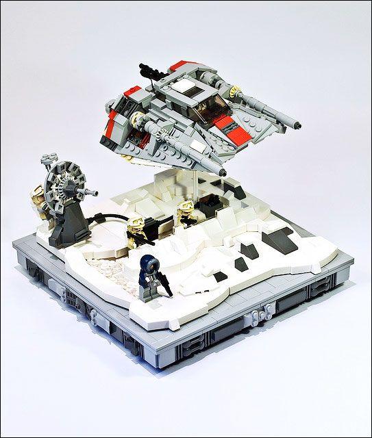 Magnifique diorama illustrant la célèbre bataille du Hoth du côté de l'alliance rebelle - Par Marshal Banana