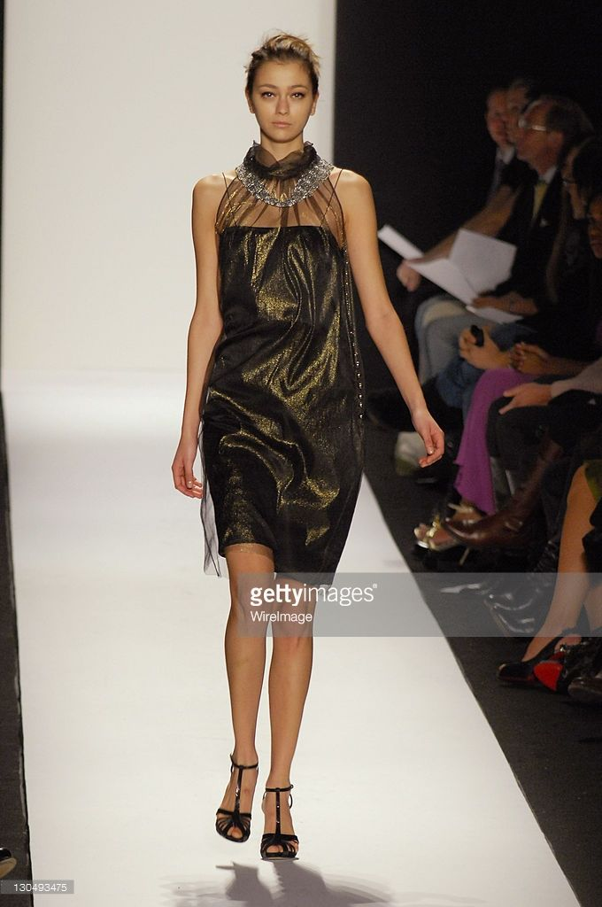 Morgane Dubled wearing Badgley Mischka Fall 2007 during Mercedes-Benz Fashion Week Fall 2007 - Badgley Mischka - Runway at The Tent, Bryant Park in New York City, New York, United States.