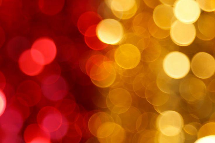 Rouge et jaune lumières floues