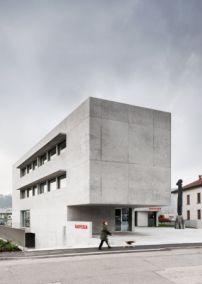 Sichtbeton-Monolith in der Schweiz von Montemurro Aguiar / Die Tugenden einer Bank - Architektur und Architekten - News / Meldungen / Nachrichten - BauNetz.de