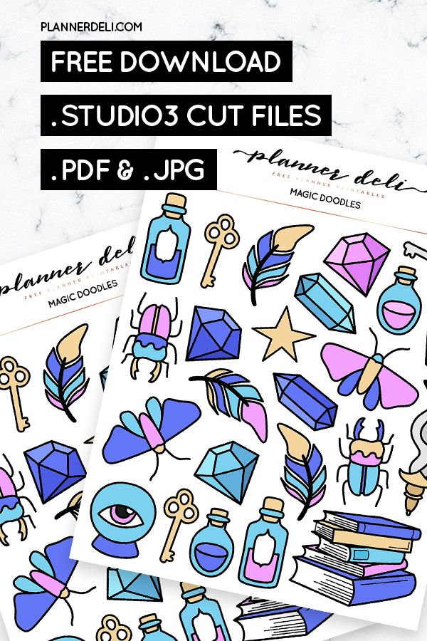 Free Magic Doodles Printable Stickers With Images Printable