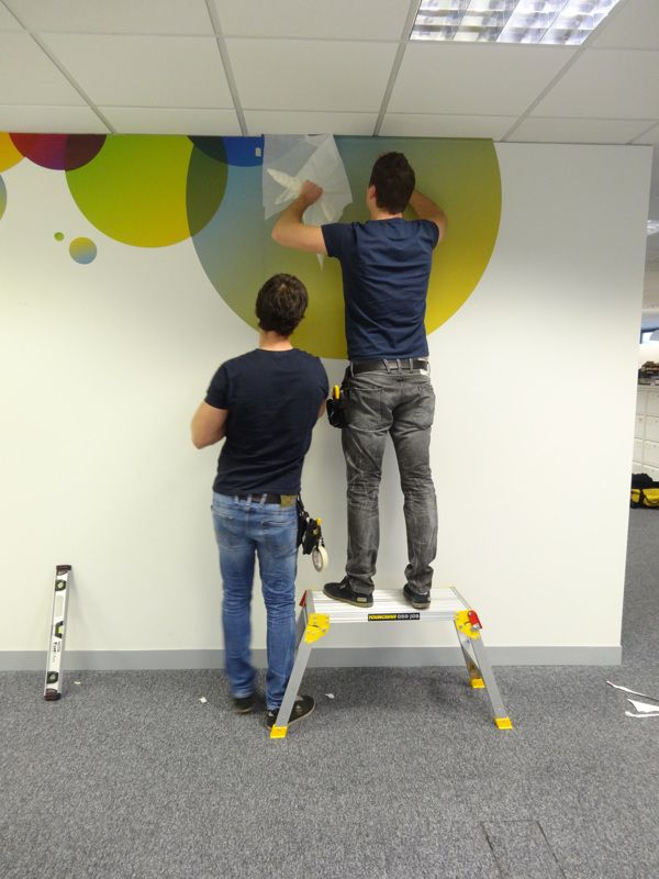 Wall Graphics install for Direct Line in London by Vinyl Impression Wall Wrap and install