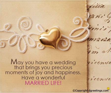Send this wishful greeting card to the newly weds in your circle!
