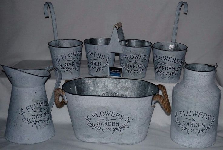 flowers & garden bath tub jug hook planter milk churn double planter job bundle