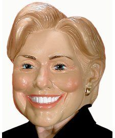 Trump and Clinton Halloween Costumes - Choose Edgy or Funny - Adult Hillary Rodham Clinton Costume Mask
