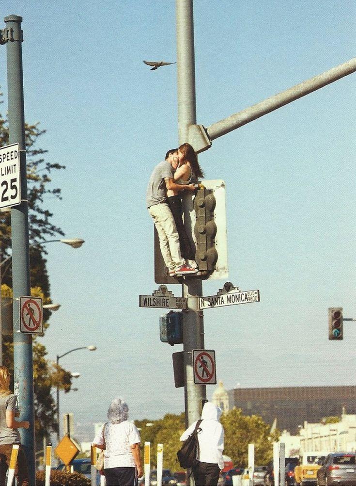 : A Kiss, Buckets Lists, Engagement Photo, Street Lighting, The Kiss, Cute Couple, Epic Win, Santa Monica, Romantic Couple