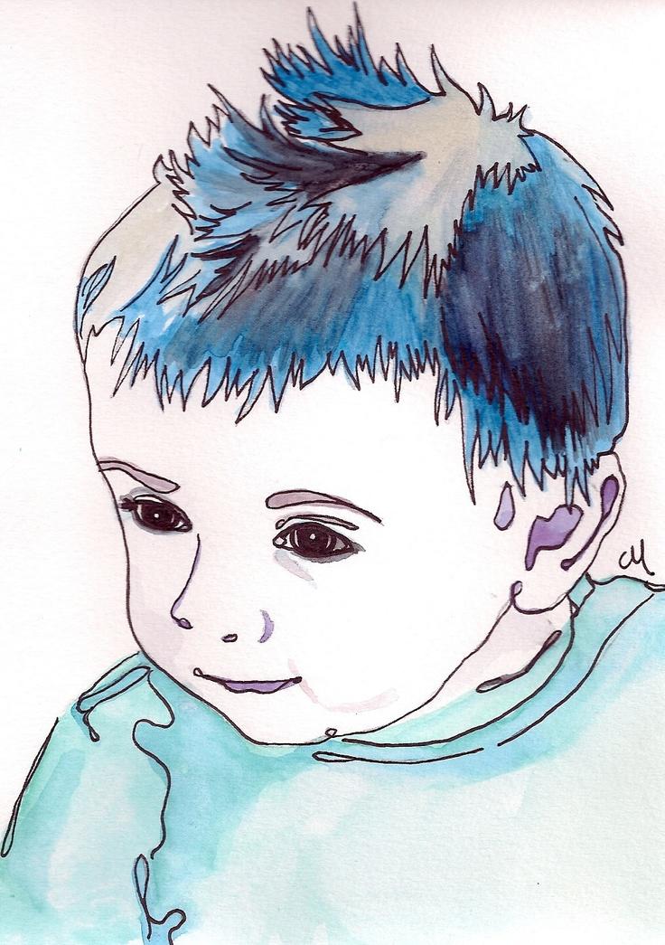 Watercolor Portrait.