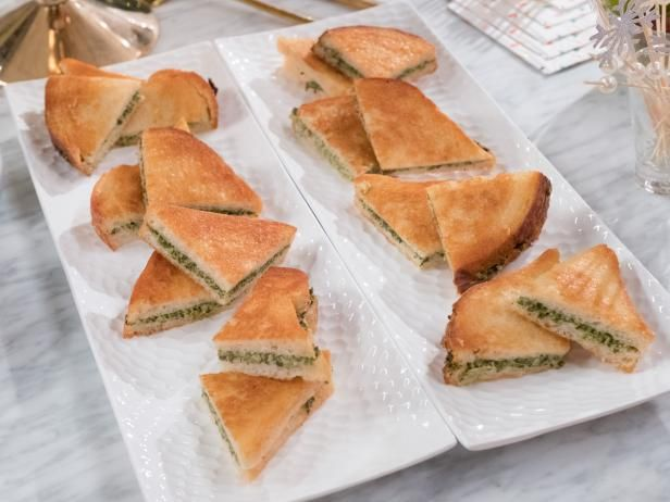 Get Spinach-Artichoke Panini Bites Recipe from Food Network
