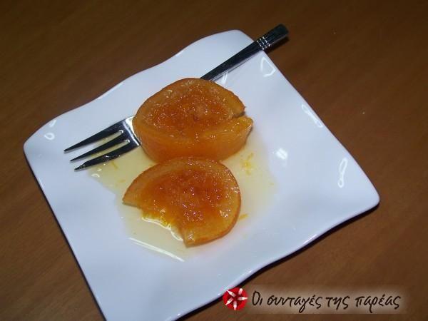 Γλυκό κουταλιού με ολόκληρο πορτοκάλι #sintagespareas