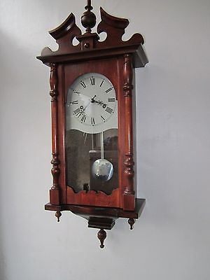 Vintage chiming #small wall #clock in #v.g.w.o.,  View more on the LINK: http://www.zeppy.io/product/gb/2/332017179248/