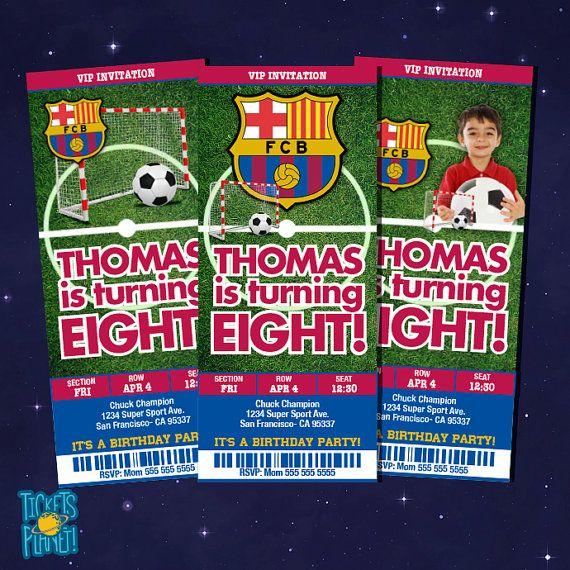 FC Barcelona Birthday Invitation Card Barcelona by TicketsPlanet, $10.00 - FC BARCELONA - BARCA MESSI
